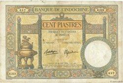 100 Piastres INDOCHINE FRANÇAISE  1936 P.051d B à TB