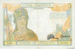 5 Piastres INDOCHINE FRANÇAISE  1932 P.053x TTB+