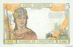 5 Piastres INDOCHINE FRANÇAISE  1932 P.055a SPL