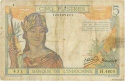 5 Piastres INDOCHINE FRANÇAISE  1946 P.055c B