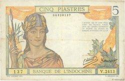 5 Piastres INDOCHINE FRANÇAISE  1946 P.055c TB+