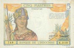 5 Piastres INDOCHINE FRANÇAISE  1946 P.055c TTB+