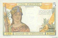 5 Piastres INDOCHINE FRANÇAISE  1946 P.055c pr.NEUF