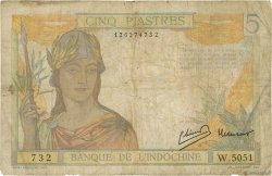 5 Piastres INDOCHINE FRANÇAISE  1949 P.055d B