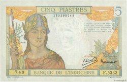 5 Piastres INDOCHINE FRANÇAISE  1949 P.055d SUP