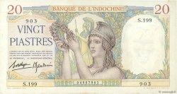 20 Piastres INDOCHINE FRANÇAISE  1936 P.056b SUP+