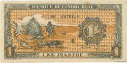 1 Piastre orange INDOCHINE FRANÇAISE  1942 P.058a TTB