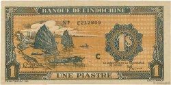 1 Piastre orange INDOCHINE FRANÇAISE  1942 P.058a SPL