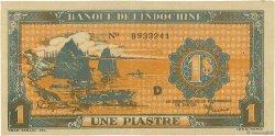 1 Piastre INDOCHINE FRANÇAISE  1942 P.058a TTB+