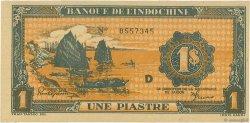 1 Piastre INDOCHINE FRANÇAISE  1942 P.058a