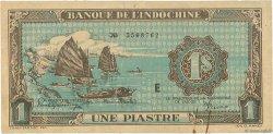 1 Piastre INDOCHINE FRANÇAISE  1942 P.059a TTB