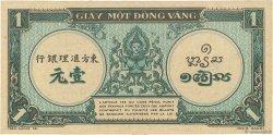 1 Piastre bleu INDOCHINE FRANÇAISE  1942 P.059a SUP