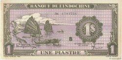 1 Piastre violet INDOCHINE FRANÇAISE  1942 P.060 SPL