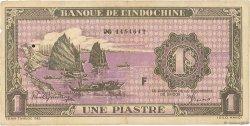 1 Piastre INDOCHINE FRANÇAISE  1942 P.060 TTB