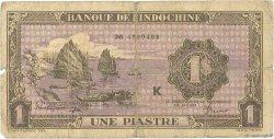 1 Piastre INDOCHINE FRANÇAISE  1942 P.060 B
