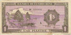 1 Piastre INDOCHINE FRANÇAISE  1942 P.060 TB