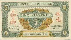 5 Piastres vert / marron INDOCHINE FRANÇAISE  1942 P.061 SPL