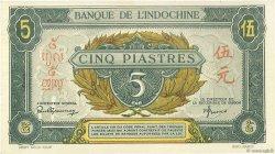 5 Piastres INDOCHINE FRANÇAISE  1942 P.062b SUP+