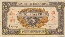 5 Piastres INDOCHINE FRANÇAISE  1942 P.063 TB