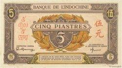 5 Piastres INDOCHINE FRANÇAISE  1942 P.063 pr.NEUF