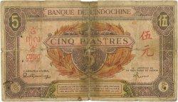 5 Piastres INDOCHINE FRANÇAISE  1942 P.064 AB