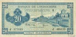 20 Piastres bleu INDOCHINE FRANÇAISE  1942 P.065 TTB