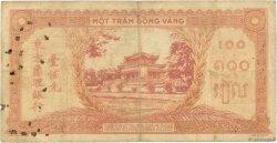 100 Piastres INDOCHINE FRANÇAISE  1942 P.066 TB