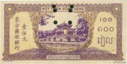 100 Piastres violet et vert INDOCHINE FRANÇAISE  1942 P.067s TTB+