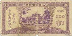 100 Piastres INDOCHINE FRANÇAISE  1942 P.067 B+