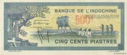 500 Piastres bleu INDOCHINE FRANÇAISE  1944 P.068 SUP