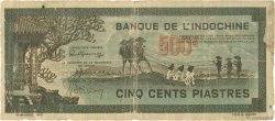 500 Piastres gris-vert INDOCHINE FRANÇAISE  1945 P.069 B