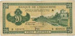 20 Piastres vert INDOCHINE FRANÇAISE  1942 P.070 pr.TTB