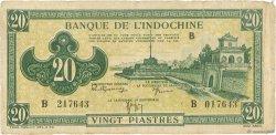 20 Piastres vert INDOCHINE FRANÇAISE  1942 P.070 B+