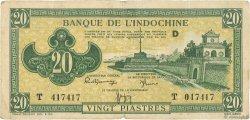 20 Piastres INDOCHINE FRANÇAISE  1942 P.070 TB