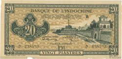 20 Piastres marron INDOCHINE FRANÇAISE  1942 P.071 SUP