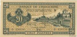 20 Piastres INDOCHINE FRANÇAISE  1942 P.071 SPL