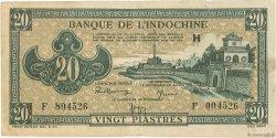 20 Piastres INDOCHINE FRANÇAISE  1942 P.071 TB+