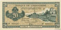 20 Piastres INDOCHINE FRANÇAISE  1942 P.071 SUP