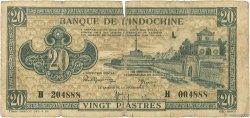 20 Piastres INDOCHINE FRANÇAISE  1942 P.071 B