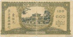 100 Piastres orange, cadre noir INDOCHINE FRANÇAISE  1942 P.073 pr.TB