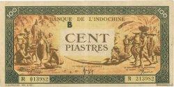 100 Piastres INDOCHINE FRANÇAISE  1942 P.073 TTB+