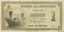 1 Piastre INDOCHINE FRANÇAISE  1945 P.076a TTB