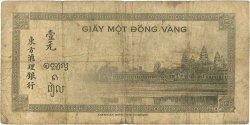 1 Piastre INDOCHINE FRANÇAISE  1945 P.076b B+