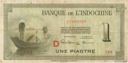 1 Piastre INDOCHINE FRANÇAISE  1945 P.076b TB