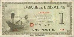 1 Piastre INDOCHINE FRANÇAISE  1945 P.076b TTB