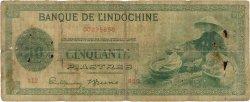 50 Piastres INDOCHINE FRANÇAISE  1945 P.077a AB