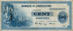 100 Piastres FRENCH INDOCHINA  1945 P.078a aVF