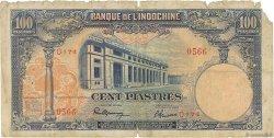 100 Piastres INDOCHINE FRANÇAISE  1946 P.079a AB