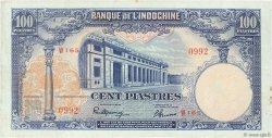 100 Piastres INDOCHINE FRANÇAISE  1946 P.079a TTB