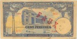 100 Piastres INDOCHINE FRANÇAISE  1946 P.079x TTB